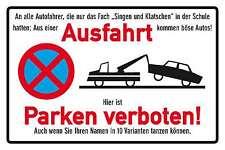 Ausfahrt - Parken verboten ! Blechschild Schild gewölbt Tin Sign 20 x 30 cm