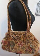 Vintage Richmark made in America Gold Floral Velvet Handbag