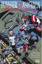 Marvel Comics Punisher Captain America Blood