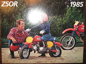 1985 HONDA Z50R NOS OEM DEALER'S SALES LITERATURE BROCHURE Z 50 R 85