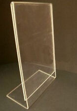 10 DIN A 4 L - STÄNDER PREISSCHILD GLAS WERBESCHILD HOCHFORMAT HOCH NEU PLEXI