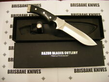 RAZOR BLADES BLACK STAG HUNTING CAMPING SKINNING KNIFE BOWIE