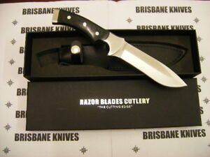 RAZOR BLADES BLACK STAG HUNTING CAMPING SKINNING KNIFE BOWIE 2NDS
