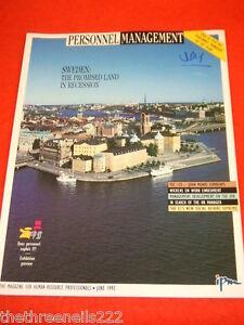 PERSONNEL MANAGEMENT - SWEDEN -  JUNE 1993