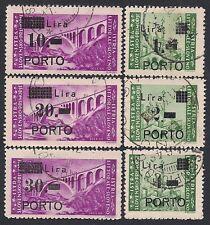 ISTRIA - LITORALE SLOVENO 1946 - SEGNATASSE n. 8/13 USATI € 200