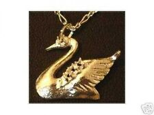 Silver Charm pendant Jewelry Cool Gold Plated Swan Bird