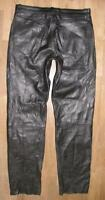 "Strong: Men's Leather Jeans/Leather Pants IN Black Approx. W35 "" / L35 """