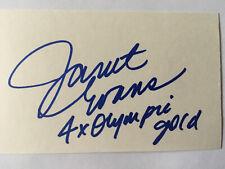 Janet Evans Autographed 3x5