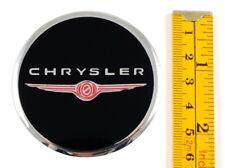 """CHRYSLER *4 x NEW* Emblems 60mm (2 3/8"""") WHEEL CENTER CAP STICKERS 3D DECALS"""
