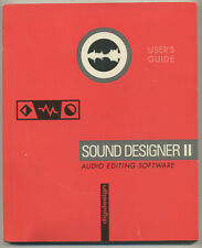 DIGIDESIGN SOUND DESIGNER II ORIGINAL USER'S GUIDE