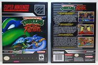 Teenage Mutant Ninja Turtles Tournament Fighters - SNES Custom Case *NO GAME*