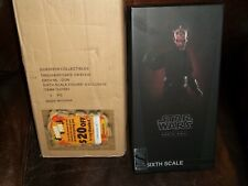 """star wars sideshow 12"""" 1/6 scale exclusive darth maul sith deluxe version figure"""