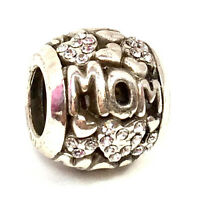 Brighton Love Mom Bead J99432 Silver Finish w/ Crystals, New