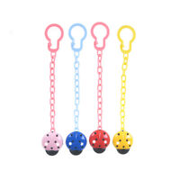 4Pcs Baby Newborn  Pacifier Clip Chain Strap Dummy Soother Nipple Holder DE