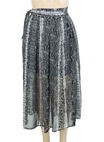 Fate + Fortune Womens Skirt Black Size Large L Straight Animal-Print $52- 191