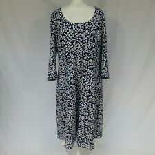 Woman's Boden navy blue white pattern winter dress size 22
