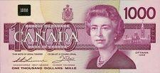Canada 1000 Dollars 1988 P100 Reproduce