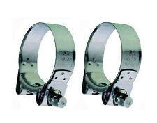 HONDA CBR1100 BLACKBIRD STAINLESS STEEL EXHUAST CLAMPS (PAIR)
