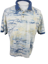 BIMINI BAY vintage 1990s  Men Shirt POLO pit to pit 25 L fish luau AS IS sport
