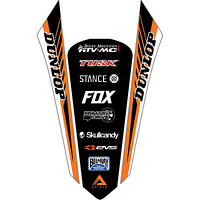 Attack Graphics Turbine Rear Fender Decal Orange for KTM 250 EXC-F 2017-2018