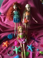 💙Jakks Pacific Bundle Of 3 winx dolls & accessories only ever displayed!💚