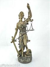 24cms LADY JUSTICE- MINIATURE FIGURINE - HOME/OFFICE DECOR
