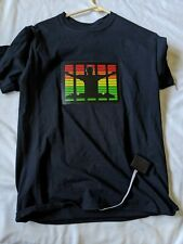 Sound activated light up led t-shirt