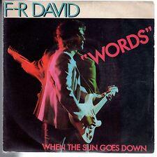 "disco 45 GIRI F-R DAVID ""WORDS"" - WHEN THE SUN GOES DOWN"