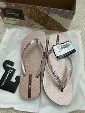 Womens Ipanema Flip Flops Glam Beach Slip On Sandals - Rose - RRP: £27.95