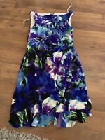 Muse Dress Womens Size 4 Small Spring Summer Blue Floral