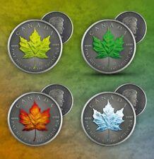 2020 Canada 1 oz Silver Maple Leaf Four Seasons 4-Coin Set - 500 Made