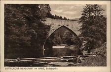 Wendefurth Wendefurt Sachsen-Anhalt Harz ~1920/30 Bodebrücke Brücke ungelaufen
