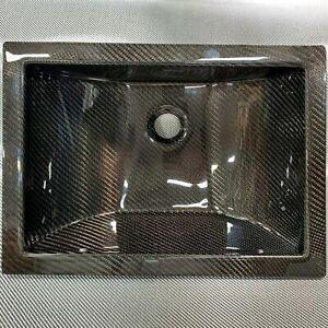 "16"" x 11""  AUTHENTIC Carbon Fiber Undermount Bathroom Sink"
