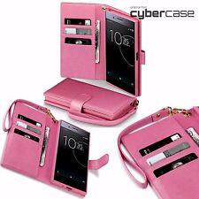 Xperia XZ Premium     Pink Leather Fashion Designer Wallet Purse Case ION