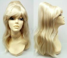 60s Beehive Blonde Wig Long Straight Costume Retro Cosplay Drag Groovy