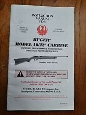 Original Ruger 10/22 Carbine Rifle Instruction Manual, 11/97