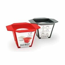 Luckies Rice & Easy RED Rice Measuring Cup Silicone Make Perfect Rice Every Time