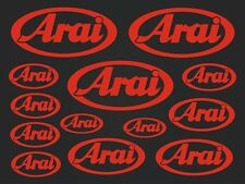 Arai - set of stickers- motosport - 13 kit- red  SK-151