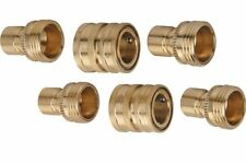6 Piece PC Brass Garden Hose Quick Coupler Set Quick Connect Disconnect Coupler
