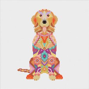 Mandala Dog Cross Stitch Kit by Meloca Designs