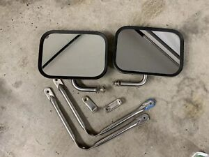 1981-1993 81-93 Dodge Ram Van Sideview Tow Mirrors With Brackets