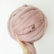 Super chunky blush pink merino giant wool arm knitting,500g