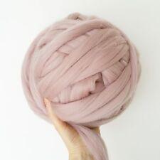 Super chunky blush pink merino giant wool arm knitting,500g
