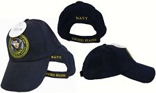 United States Department of the Navy Seal Emblem Logo Hat Cap (Navy Color)