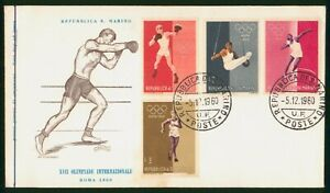 Mayfairstamps San Marino FDC 1960 Olympic Sports Combo Boxing First Day Cover ww