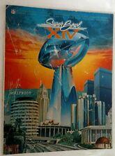 Vintage NFL 1982 Super Bowl XIV On Site Game Program STEELERS Vs RAMS