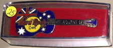 Hard Rock Cafe Melbourne 1998 Flag Acoustic Guitar Pin in Case #25/150 Hrc #5441