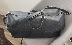 Louis Vuitton Keepall Bandouliere 55 in Monogram Eclipse
