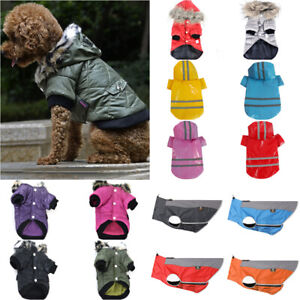 Pet Dog Puppy Winter Warme Hooded Jacket Coat Outdoor Sports Vest Jacket Clothes