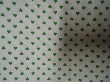 Gorgeous Sweet TINY GREEN HEART Themed Fabric ( 55cm x 80cm)